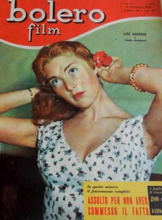 Lise Bourdin bolero film 5 décembre 1954